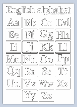 Английский алфавит - Иностранные языки
